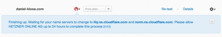 CloudFlare CDN Name Server Check