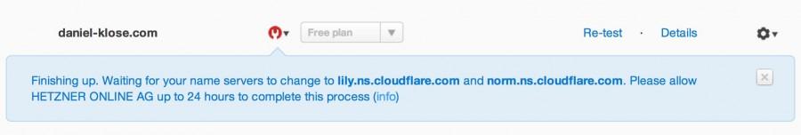 CloudFlare CDN Name Server Check